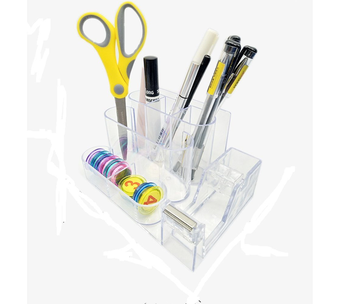 BaiJia The Multi-functional Office Supply Station Desk Accessory Holder-Memo Pad,Pencil Holder,Tape Dispenser