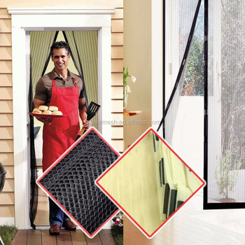 Magnetic Net Door Screen Anti Mosquito Mesh Bug Fly Home Gate Door Magnetic  Curtain