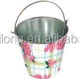 Flower Print Ice Buket/ Beverage Holder/5L Party cooler/Garden Beer Bucket/Pails