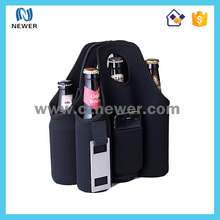 Delicated tote thermal low price 6 bottle neoprene wine cooler bag