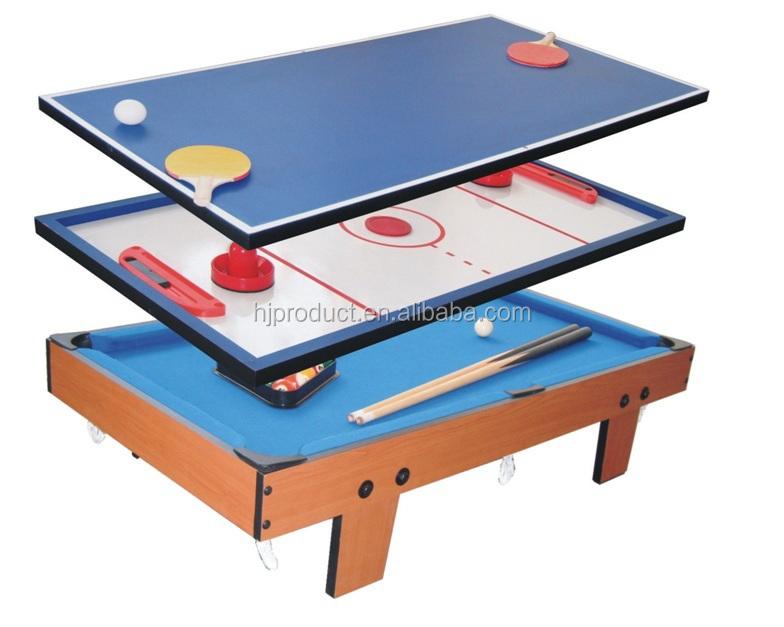 Best Selling Easy Table Top Mini Kidu0027s 3 In 1 Multi Game Table