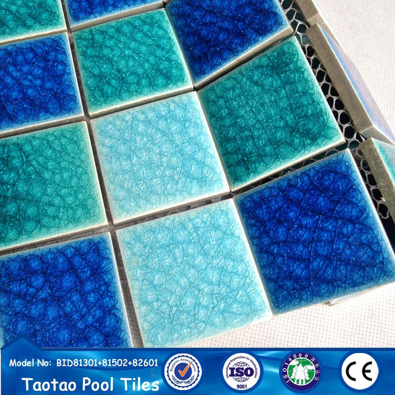 48x48 Ice Cracked Ceramic Mosaic Pattern Ceramic Tiles Mosaic View