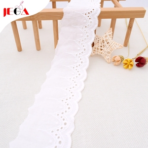 2019 White eyelet cotton lace trim manufacturer