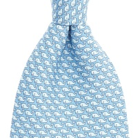 Wholesale Mens 100% Silk Printed Custom Whale Funny Neck Ties