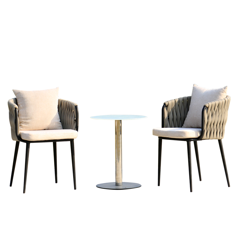 Wrought Iron Garden Table And Chair Outdoor Rattan Wicker