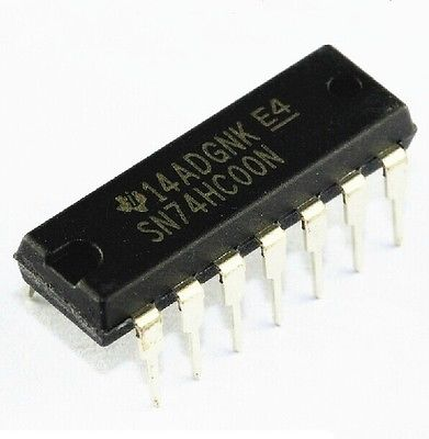 3. SN74HC00N 74HC00N IC QUAD 2-INPUT NAND GATE 14-DIP NEW