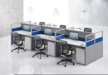 Cross Office Parion Cubicle Desk For Call Center