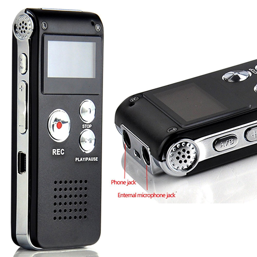 Amazon di vendita Caldo 8 GB 16 GB di Memoria Digital Audio Voice Recorder Con Porta Mini USB