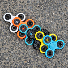 Vary color tri-spinner mesh and marble fidget toy