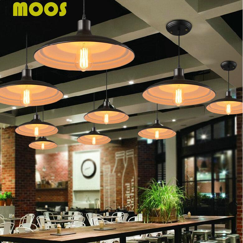 Loft American Country Vintage Pendant Lights Industrial Pendant Lamps Nordic Restaurant Droplight Home Decorative Light Fixture