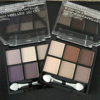 Hot sales high quality private label 6 colors highlighter eyeshadow
