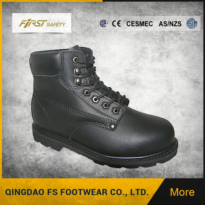 Anti Hit Construction Rubber Sole Steel Toe Safety Boots