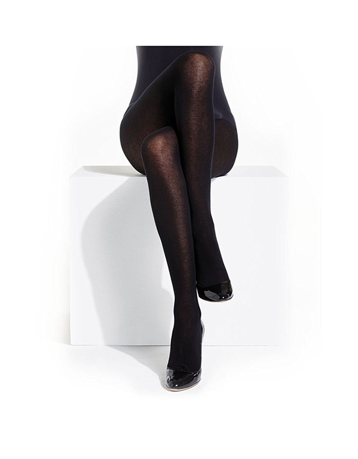 5147a25301f Get Quotations · Charnos Hosiery Womens 100 Denier Cotton Tights