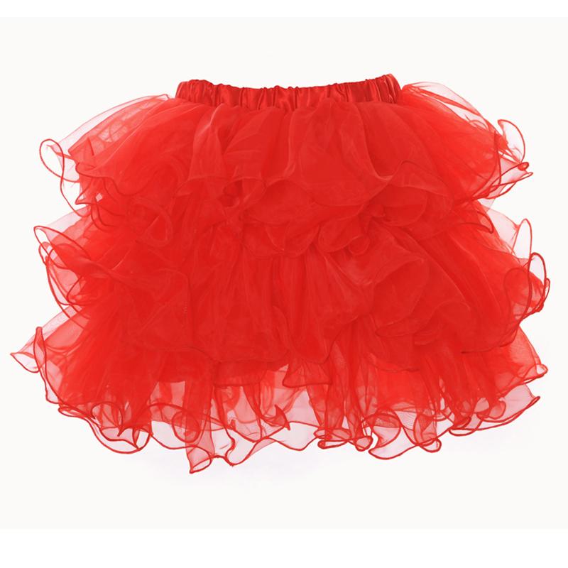Women Ruffle Tulle Organza Tutu Skirt Layer Burlesque Petticoat Costume Dance