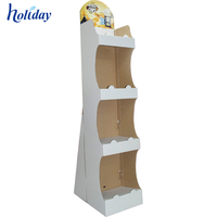 Wholesale Custom Advertising Food Snack Floor Cardboard Display Stand For Promotion