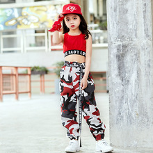 Fashion Children Jazz Dance Costume For Girls Hip Hop Street Dancing Costumes Pants Kids Performance Dance Clothes DL2033