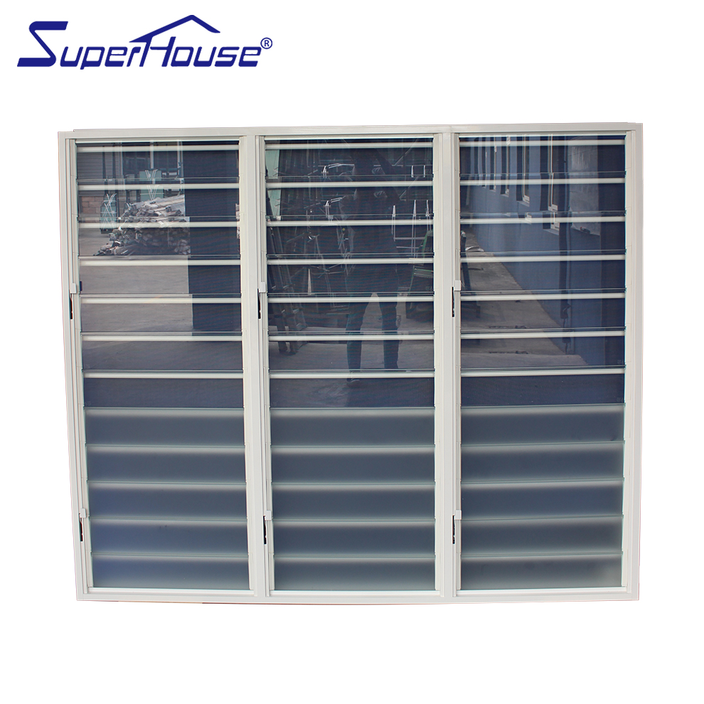 Manual Operable Adjustable 3 6mm Glass Louver Windows