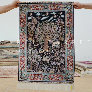 Islamic Wall Hanging Carpets Hand Knotted 2 X3 Chinese Silk Rugs