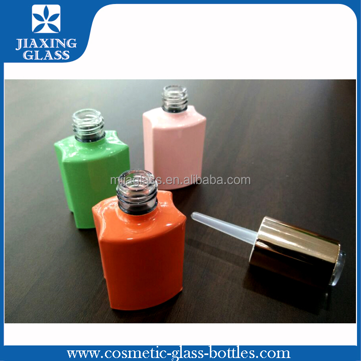 15ml Candy Color Square Shape Glass Empty Nail Polish Bottle