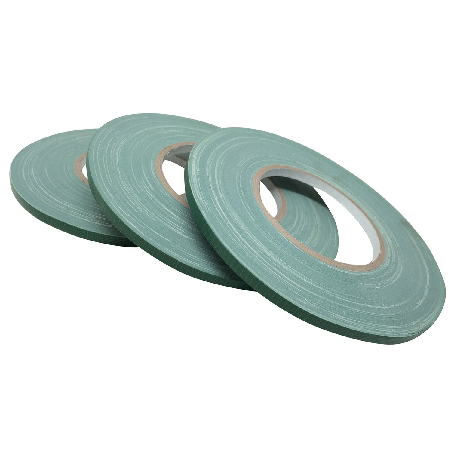 "Floral Tape Green, Flower Wrap Adhesive Waterproof Tape for Bouquets by Royal Imports 0.5"" (60 Yd/180 Ft) - 3 Rolls Bulk"