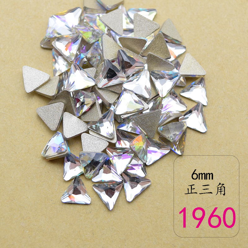 5 shapes Glass AB Crystal Flame transparent Stones For 3D Nails Decoration Nail Art Rhinestones