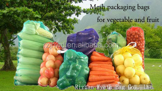 Hdpe Knitted Fruit Packing Mesh Net Produce Bags