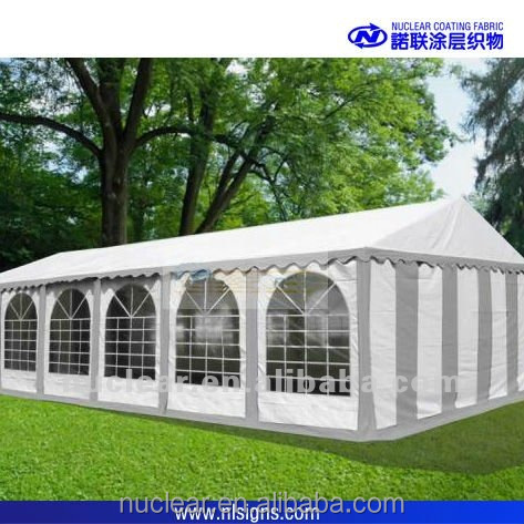 supply B1 FR certified white vinyl coated polyester tent fabric