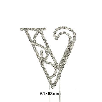 bling sparkle letter v rhinestone cake topper 26 letters