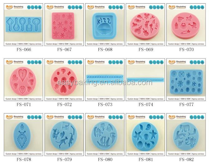 3D silicone moldss
