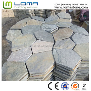 Slate Meshed Stone for Paving,Natural Slate for Stone Cladding Wall&Flooring Tile,stone raw slate
