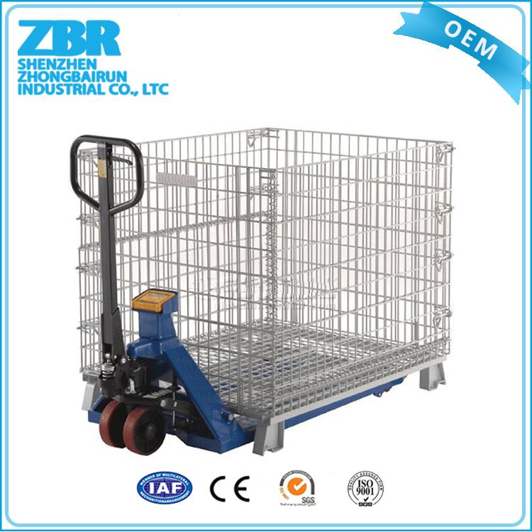 Foldable grille box/collapsible wire mesh cage/foldable storage cage