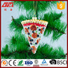 Christmas tree decorative mold glass pizza shaped decoration
