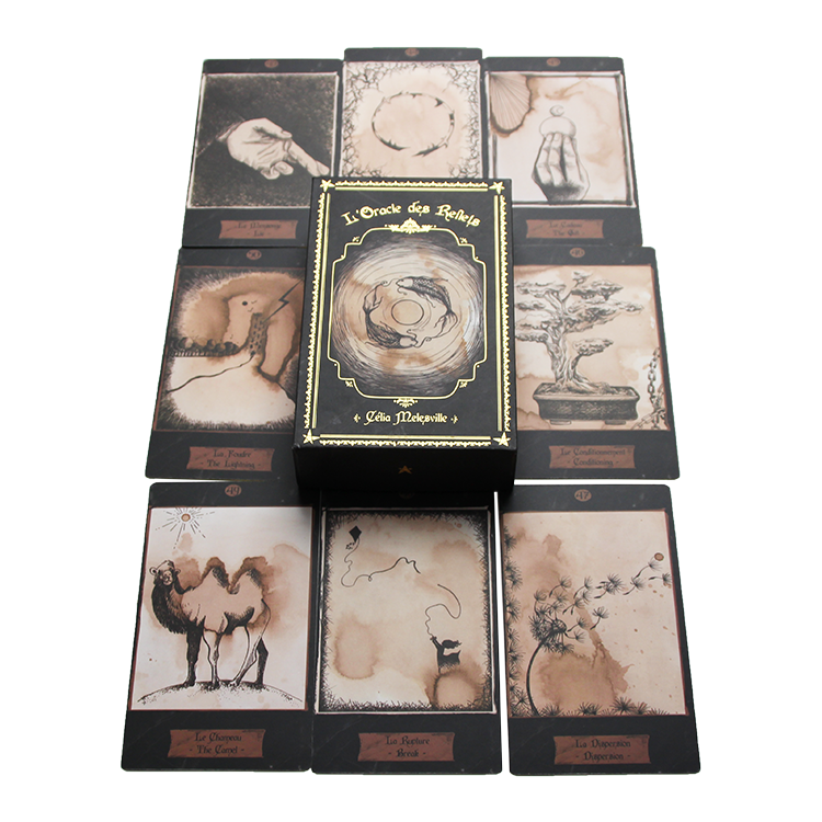Custom Adult's Paper Tarot card Oracle Card Game Playing Card With Gift Box Printing Service playing cards printing