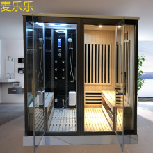 Mailele steam shower infrared sauna combination far inrared sauna and wet steam shower multifuction one body