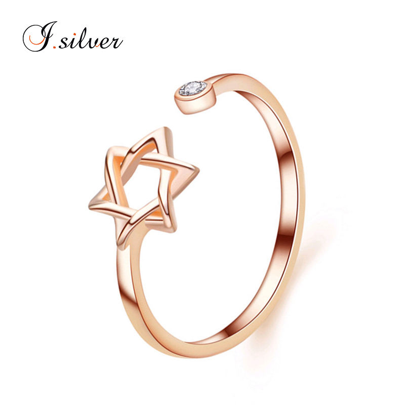 wholesale cheap 925 sterling silver gold plated open star rings R20102