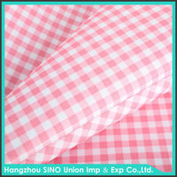 100 polyester raw white PVC coated water resistant bag fabric with grid printing