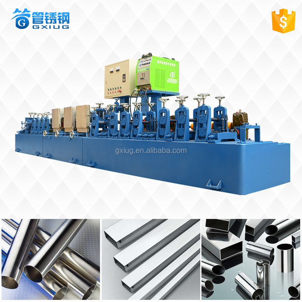 Foshan high effciency stainless steel Round / Square / Shaped pipe making machine/SS tube mill