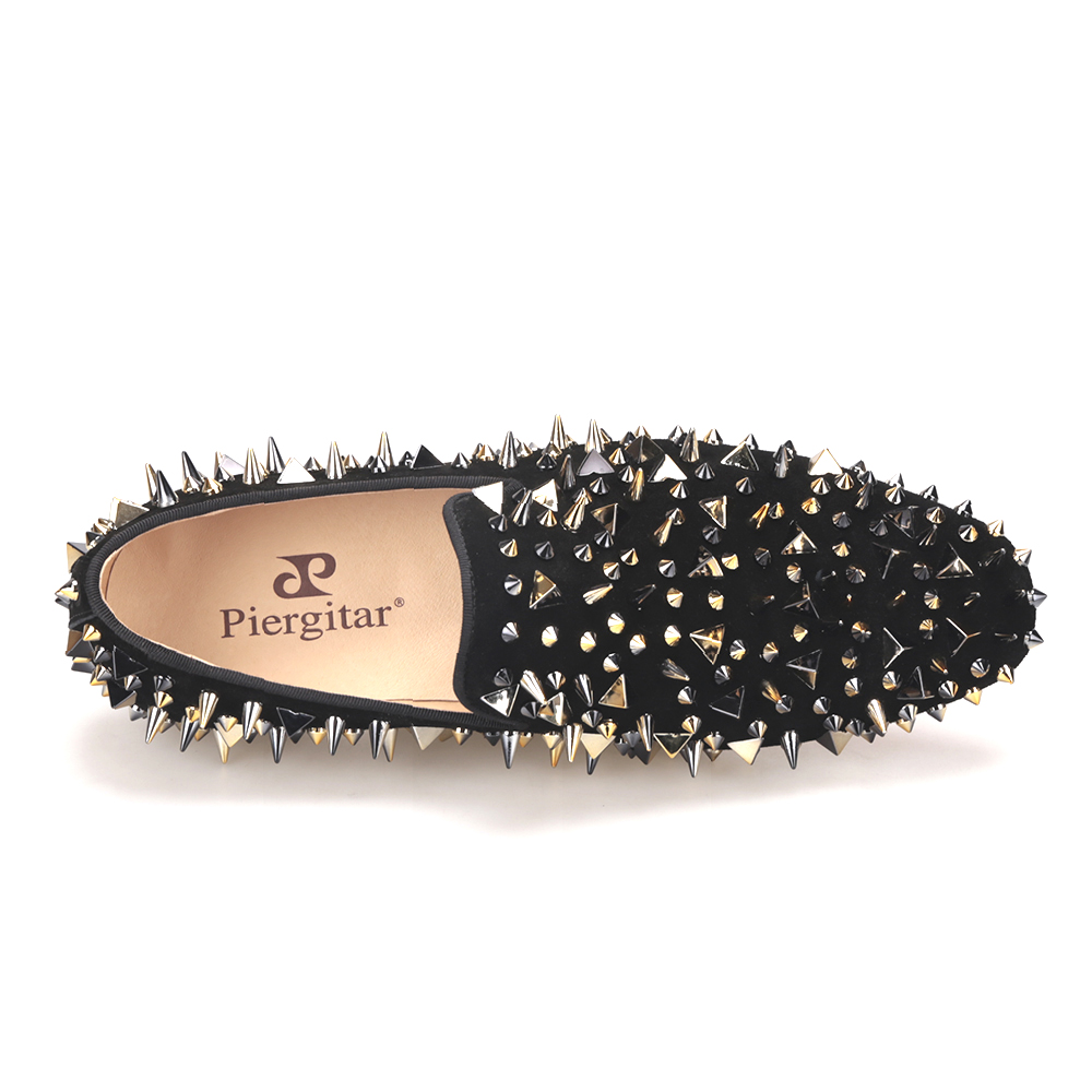 shoes casual leather men spikes black g0UqZpp
