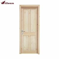 Old style 4 panel knotty pine wood door for pantry closet