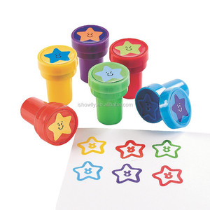 2017 Promotional Toy Self Inking Star Stampers with Rubber Stamps For Kids