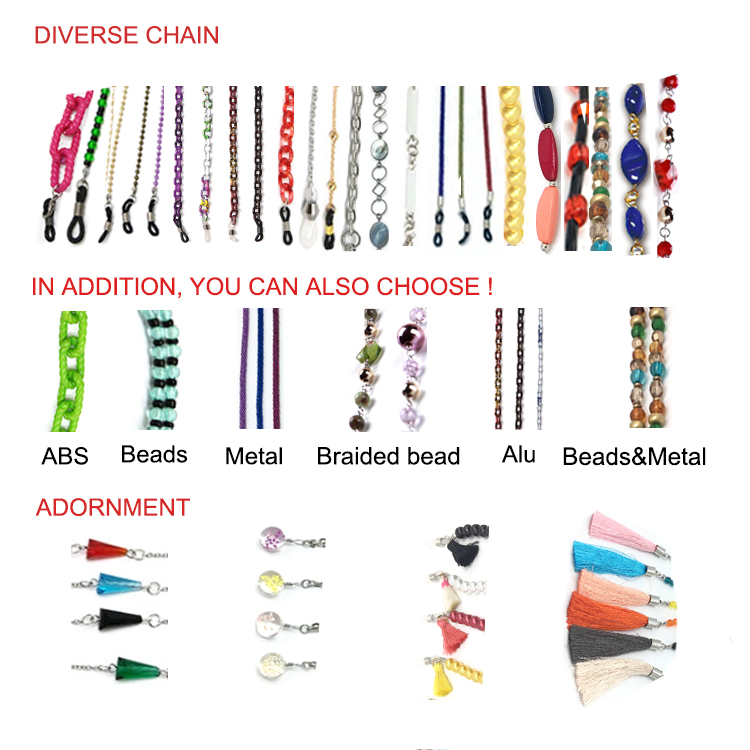 Different Sizes Supply Wenzhou Glasses Chain\Beaded String For Sunglasses