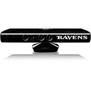 NFL Baltimore Ravens Kinect for Xbox360 Skin - Baltimore Ravens - Alternate Distressed Vinyl Decal Skin For Your Kinect for Xbox360