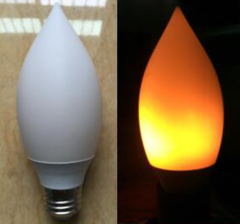 2018 new product fire effect led flicker flame candle lights B22 E26 E27 LED flame bulb for 2 years warranty