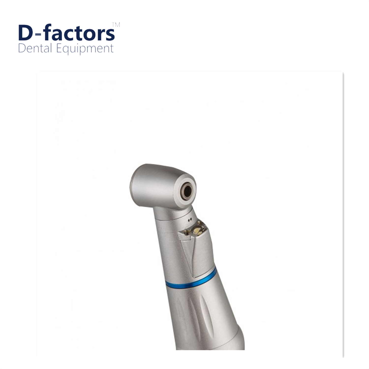 D-factors Dental handpiece Inner channel push button low speed 1:1 LED contra angle