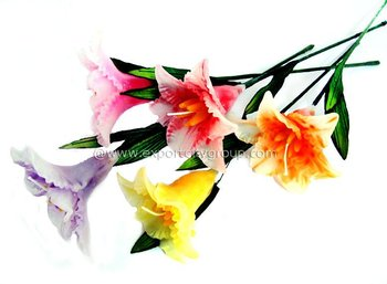 Flower stem candle wedding favor gift easter lily buy flower stem candle wedding favor gift easter lily negle Choice Image