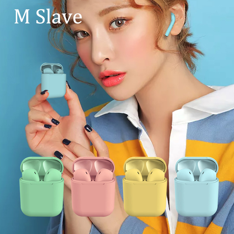 Inpods 12 Frosted Feel Touch Control Pop up Window Connection TWS 5.0 Stereo Mini Wireless Bluetooth Earphone For iPhone Android