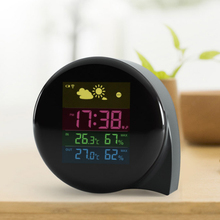 Gift Temperature Monitor Alarm Weather Clock with Snoze Function and LED Screen