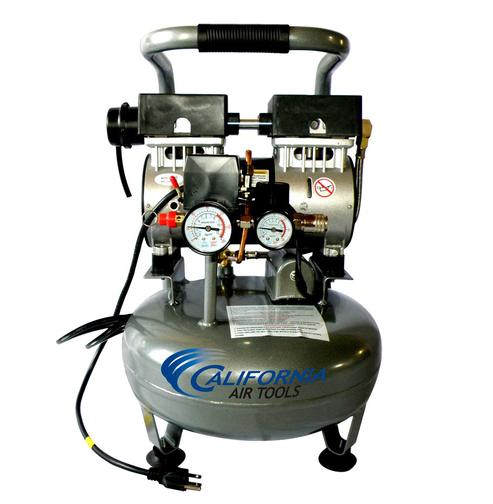 California Air Tools CAT-3010 Ultra Quiet and Oil-Free 1.0 Hp 3.0-Gallon Steel Tank Air Compressor
