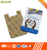 adhesive smart wallet phone/smartphone adhesive cell phone wallet