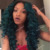 green human hair wig lace front wig for black women